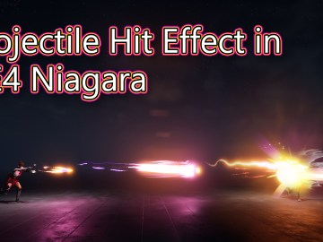 Projectile Hit Effect | UE4 Tutorial | Niagara Tutorial |
