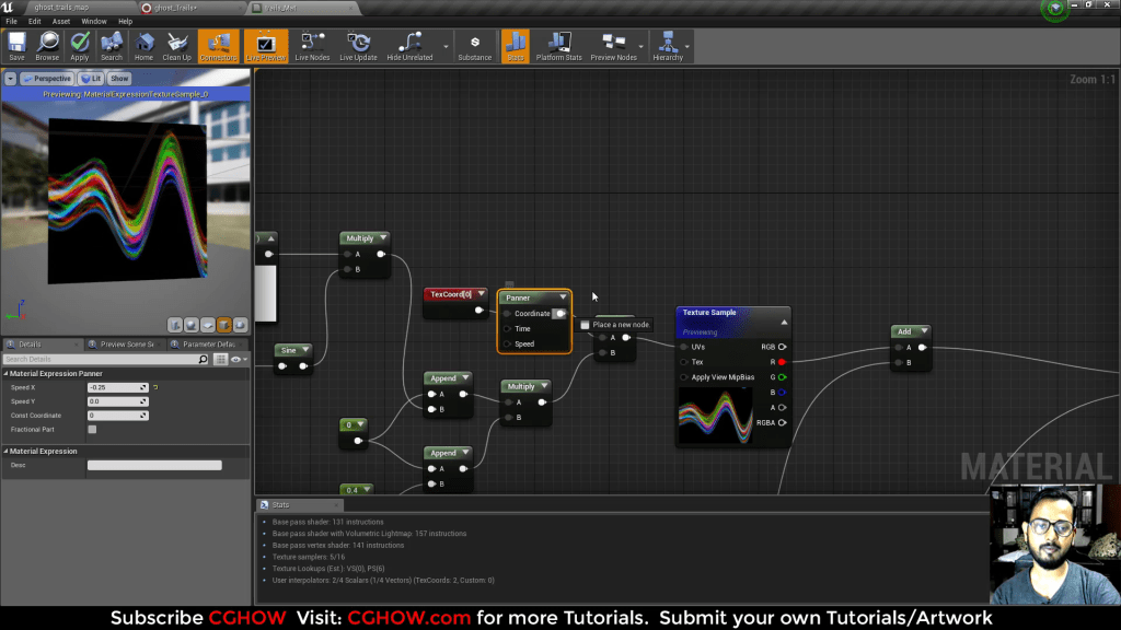 """Unreal Engine Niagara Tutorial   Ghost Trails Effect   Inspired by """"Zeng Ryan"""" RzFX Ghost Trail"""