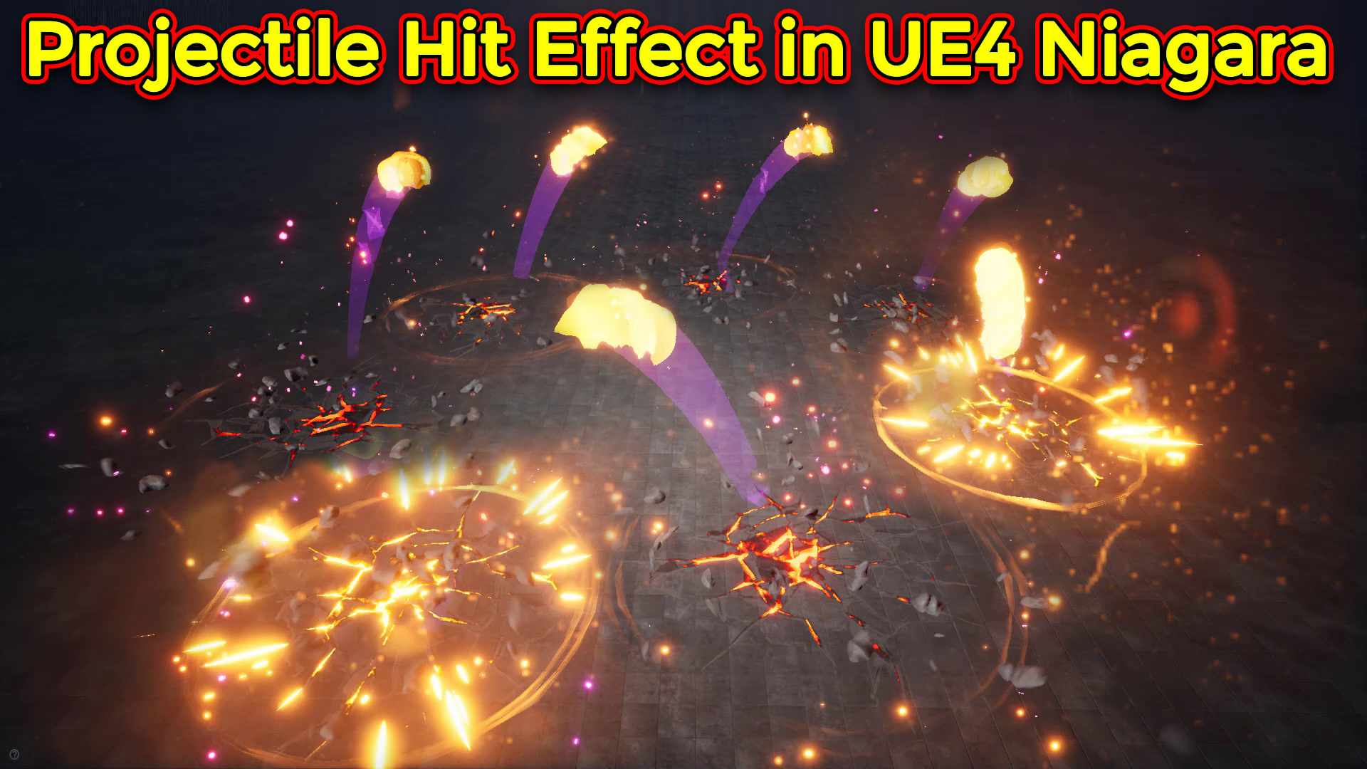 Unreal Engine Niagara Tutorial | Projectile Hit Effect