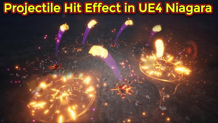 Unreal Engine Niagara Tutorial | Projectile Hit Effect