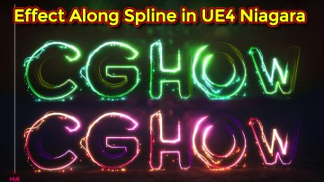Unreal Engine Niagara Tutorial | Effect Along Spline | Niagara Spline