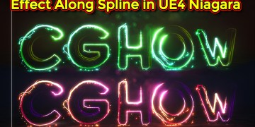 Unreal Engine Niagara Tutorial | Effect Along Spline | Niagara Spline
