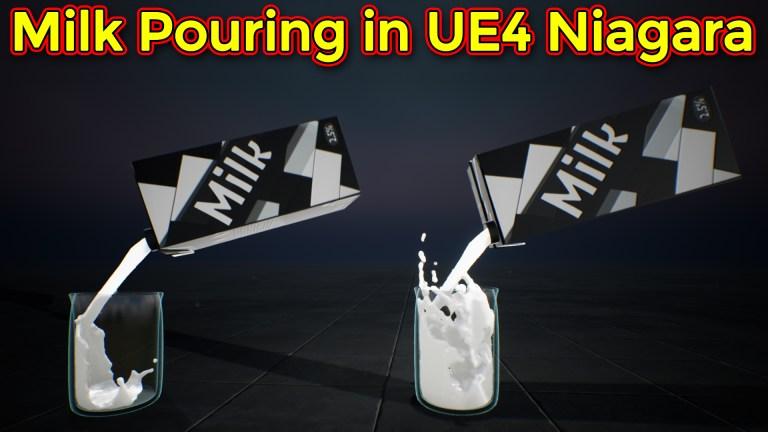 Unreal Engine Niagara Tutorial | Milk Pouring