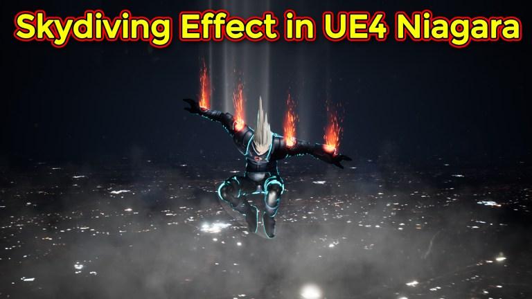 Skydiving Effect | Unreal Engine Niagara Tutorial