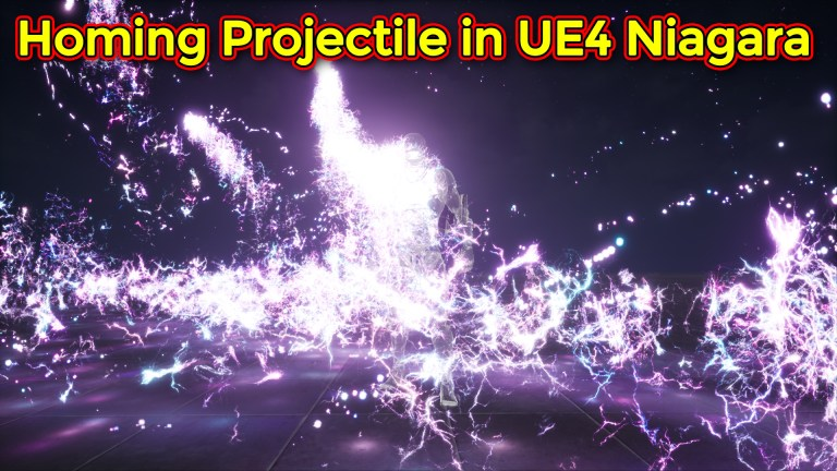 Homing Projectile with Lightning Trails   Unreal Engine Niagara Tutorial