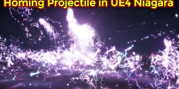 Homing Projectile with Lightning Trails | Unreal Engine Niagara Tutorial