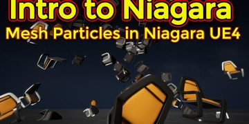 Intro to Niagara | Creating Mesh Particle Emitter | Unreal Engine Niagara Tutorial