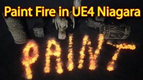 Paint Fire Effect | Unreal Engine Niagara Tutorial