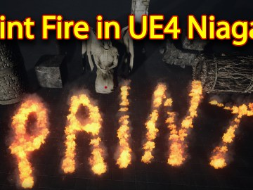 Paint Fire Effect | Unreal Engine Niagara Tutorial