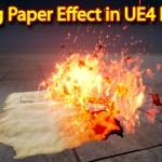 Unreal Engine Niagara Tutorial | Burning Paper Effect