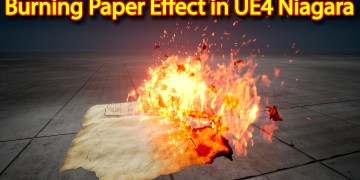 Unreal Engine Niagara Tutorial | Burning Paper Effect