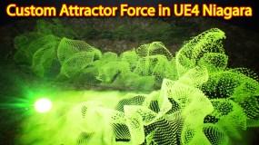 Custom Attractor Force | Unreal Engine Niagara Tutorial | UE4 Niagara Custom Force