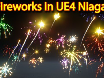 Fireworks | Unreal Engine Niagara Tutorial | UE4 Niagara Events