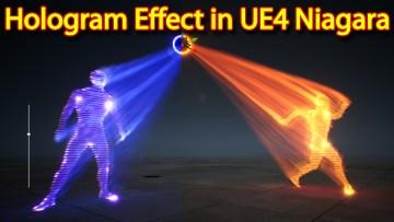 Hologram Effect   Unreal Engine Niagara Tutorial   UE4 Niagara Hologram Tutorial
