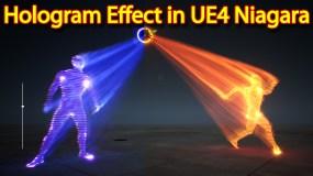 Hologram Effect | Unreal Engine Niagara Tutorial | UE4 Niagara Hologram Tutorial