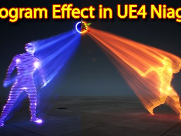 Hologram Effect | Unreal Engine Niagara Tutorial | UE4 Niagara Hologram Tutorial