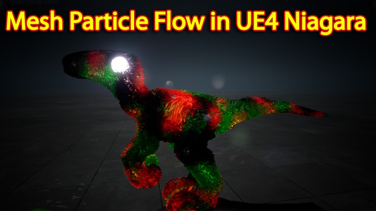 Mesh Particle Flow | Unreal Engine Niagara Tutorial | UE4 Niagara Mesh Particle Flow