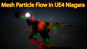 Mesh Particle Flow | Unreal Engine Niagara Tutorial | UE4 Niagara Mesh Particle Flow