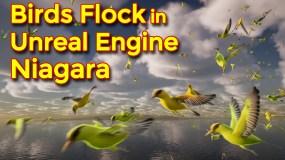 Birds Flock | Unreal Engine Niagara Tutorials | UE4 Niagara Bird Flock