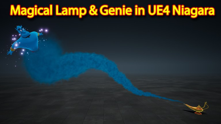 Magical Lamp and Genie Effect | Unreal Engine Niagara Tutorials | UE4 Niagara magical Lamp Genie