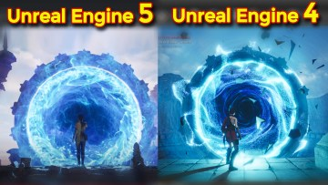 Portal Effect in Unreal Engine 4 inspired from Unreal Engine 5 Portal   UE4 Niagara Portal