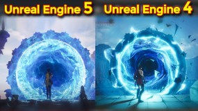 Portal Effect in Unreal Engine 4 inspired from Unreal Engine 5 Portal | UE4 Niagara Portal