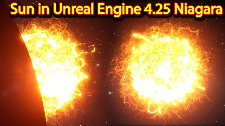 Sun   Unreal Engine Niagara Tutorials   UE4 Niagara Sun