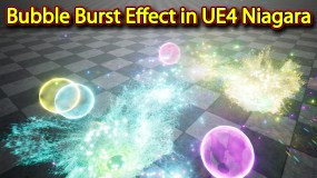 Bubble Burst Effect | Unreal Engine Niagara Tutorials | UE4 Niagara Bubble Burst