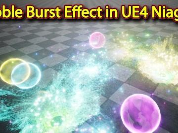 Bubble Burst Effect | Unreal Engine Niagara Tutorials | UE4 Niagara Bubble Burst