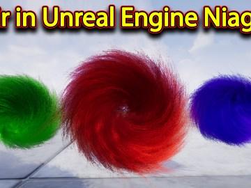Hair | Unreal Engine Niagara Tutorials | UE4 Niagara Hair