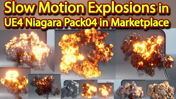 Slow Motion Explosion in UE4 Niagara Pack 04 in Marketplace