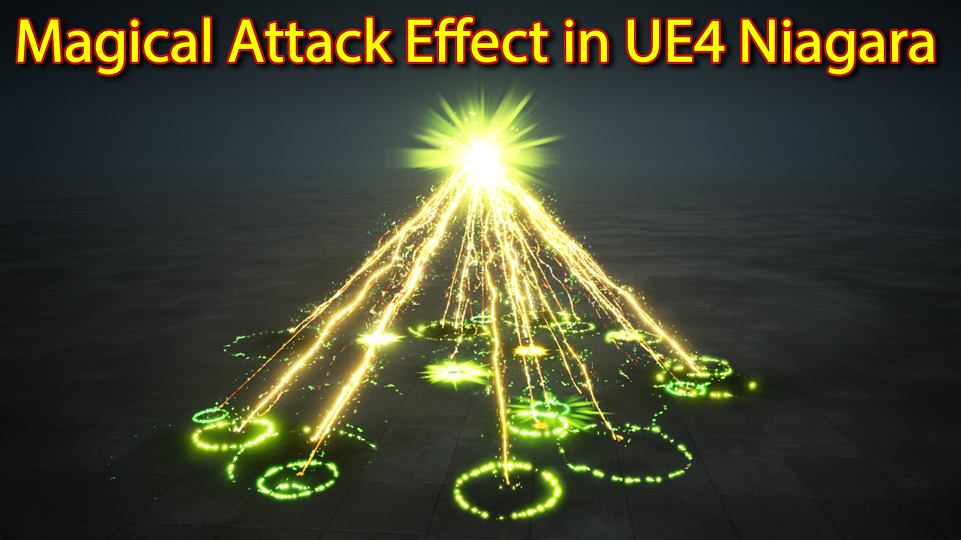 Magical Attack Effect | Unreal Engine Niagara Tutorials | UE4 Niagara Attack Effect