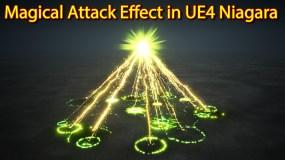 Magical Attack Effect | Unreal Engine Niagara Tutorials | UE4 Niagara Attack Effect