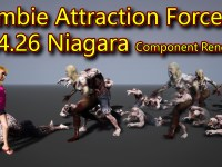 Zombie Attraction Force in UE4.26 Niagara Component Renderer