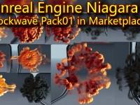 Unreal Engine Niagara Shockwave Pack 01 in Marketplace
