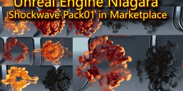 Unreal Engine Niagara Shockwave Pack 01 in Marketplace
