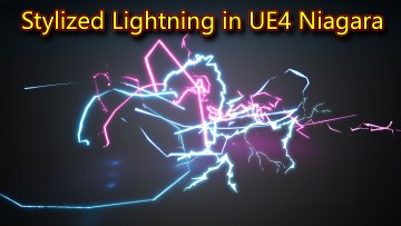 UE4 Niagara Stylized Lightning