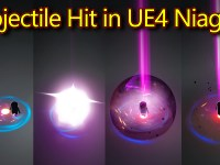 Projectile Hit Effect | Unreal Engine Niagara Tutorials | UE4 Niagara Projectile