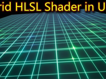 Grid HLSL Shader in UE4 Material Custom Node
