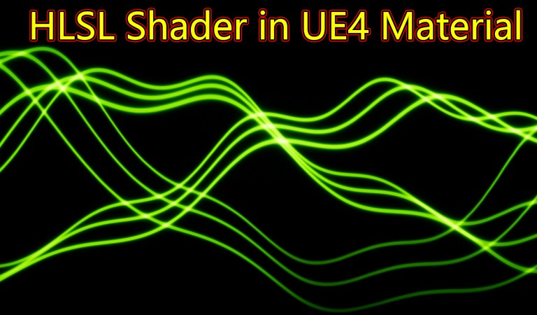 Wave Lines HLSL Shader in UE4 Material Custom Node