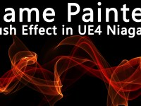Flame Painter Brush Effect in UE4 Niagara Tutorial