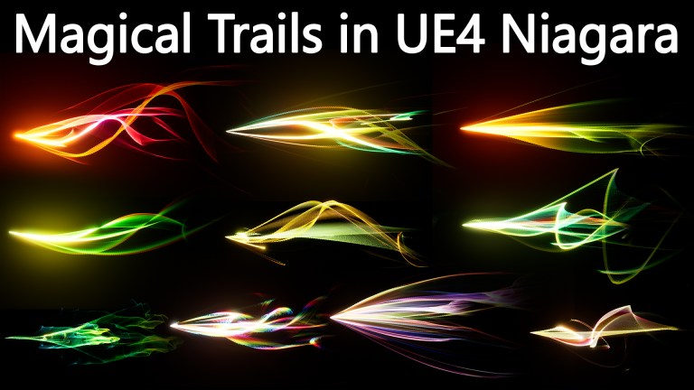 Magical Trails in UE4 Niagara pack 01 in Marketplace