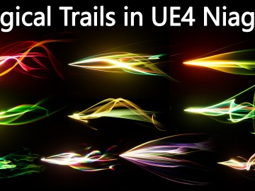 Magical Trails in UE4 Niagara pack 01 in Marketplace