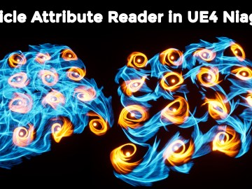Particle Attribute Reader in UE4 Niagara Tutorial