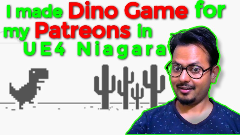 I made Dino Game for my Patreon in UE4 Niagara