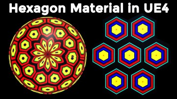 Hexagon Material in Unreal Engine