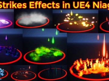 Air Strikes Effects in UE4 Niagara Marketplace