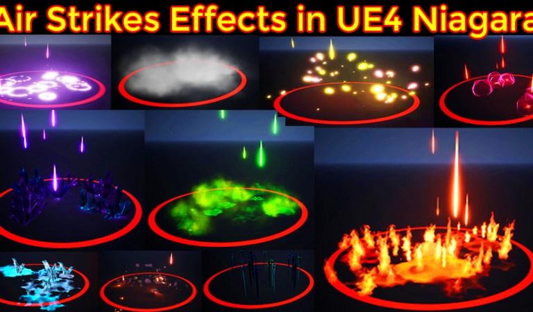 Air Strikes Effects in UE4 Niagara Marketplace