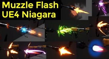 Muzzle Flash in UE4 Niagara Marketplace