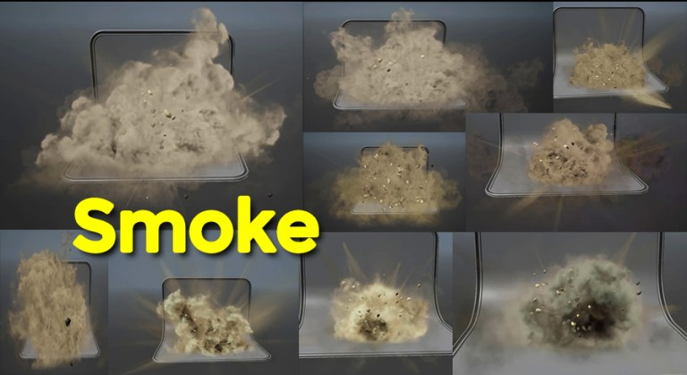 Smoke Explosions in UE4 Niagara Marketplace